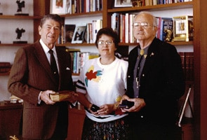 Jimmy Lile with President Reagan