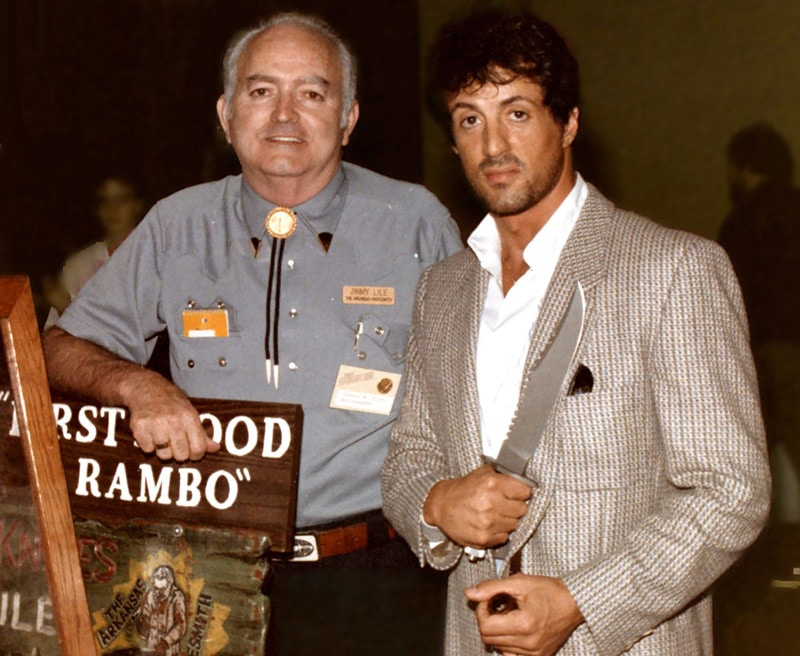 Jimmy Lile with Sylvester Stallone