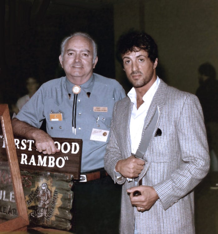 Jimmy Lile with Rambo (Sylvester Stalone)