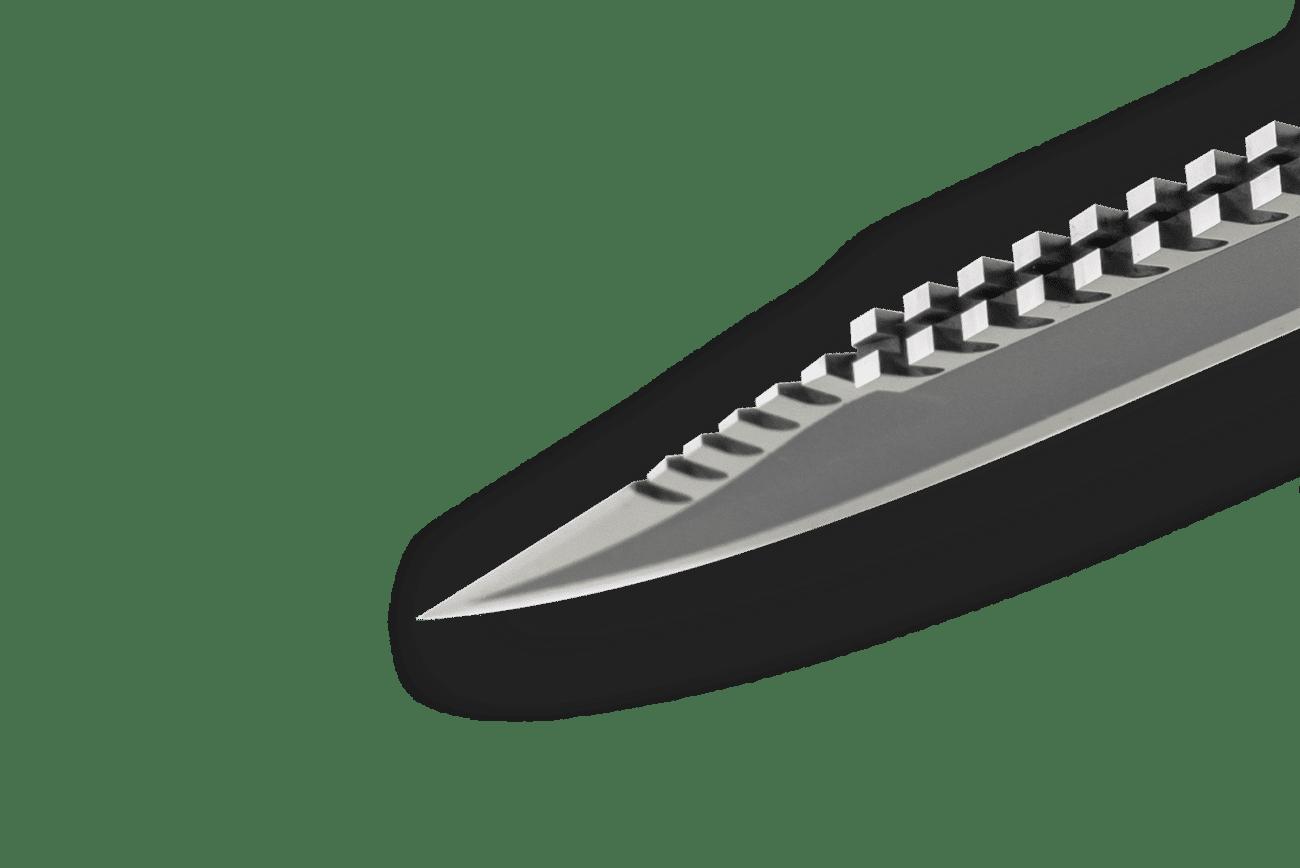 Lile Model FB Knife - Saw Back Configuration: split 14-tooth design